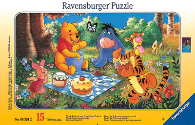 ravensburger 06351 2 winnie pooh und seine freunde beim picknick. Black Bedroom Furniture Sets. Home Design Ideas