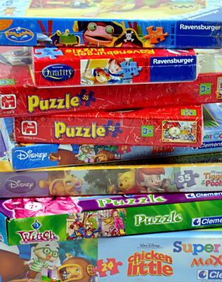 Kinder-Puzzle-Wundertüte