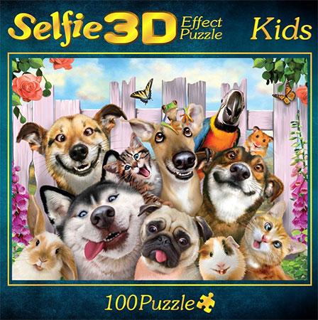 3D Effekt - Haustiere-Selfie