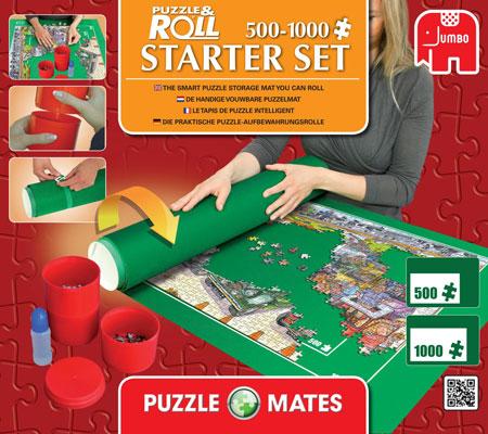 jumbo 17951 puzzlematte starter set bis 1000 teile inkl kleber. Black Bedroom Furniture Sets. Home Design Ideas