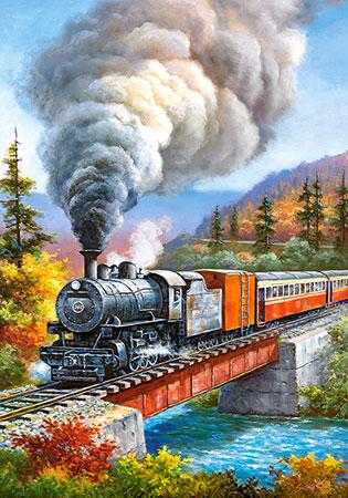 Ein Zug auf der Durchreise