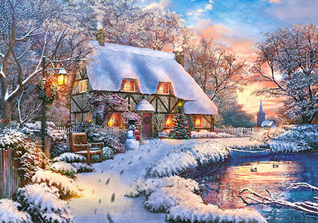 Winterliches Bauernhaus