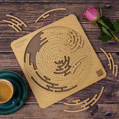 Labyrinth Puzzle - Holzpuzzle für die ganze Familie