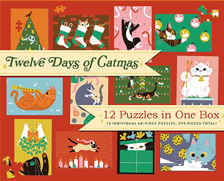 12 Tage Catmas!  (12 süße Puzzle)