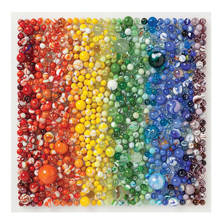 Regenbogenfarbene Murmeln