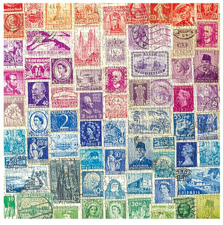 Nostalgische Briefmarken - Collage