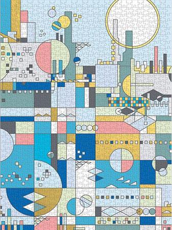 Frank Lloyd Wright - Stadt am Meer (mit Goldfolie)