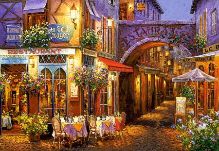 Romantisches Gässchen im Abendlicht