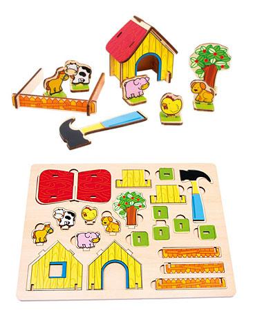 3D - Puzzle Bauernhof (Holz)