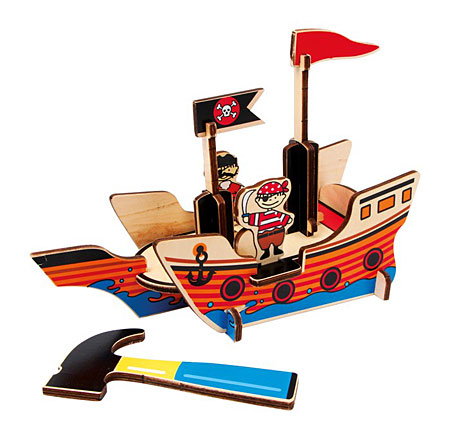 3D - Puzzle Piratenboot (Holz)