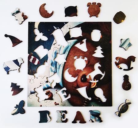 Holzpuzzle - Süße Träume