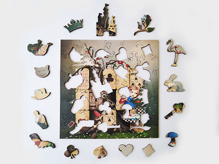 Holzpuzzle - Alice im Wunderland