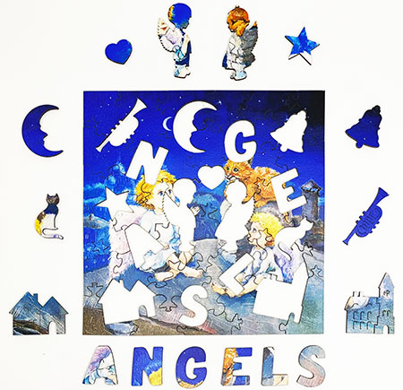 Holzpuzzle - Engel
