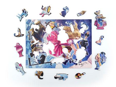 Holzpuzzle - Alice im Spiegel