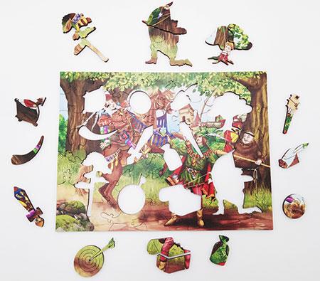 Holzpuzzle - Robin Hood
