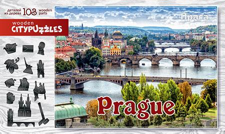 Holzpuzzle - Prag (Stadtpuzzle)