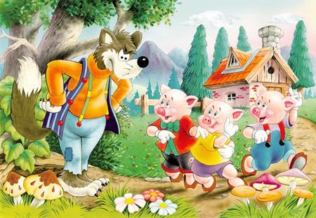 Drei kleine Schweinchen