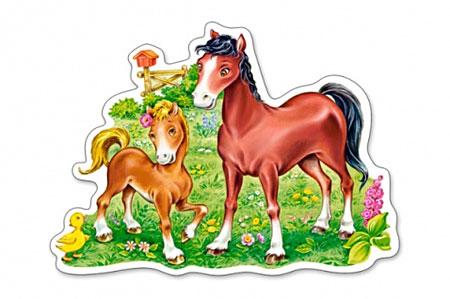 Pferd mit ihrem Fohlen