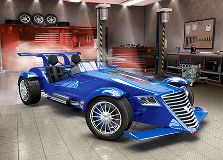 blauer-rennwagen