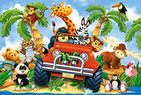Die Tiere auf großer Fahrt