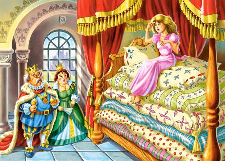 Prinzessin auf der erbse  Castorland Prinzessin auf der Erbse