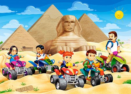 Mit den Quads bei den Pyramiden