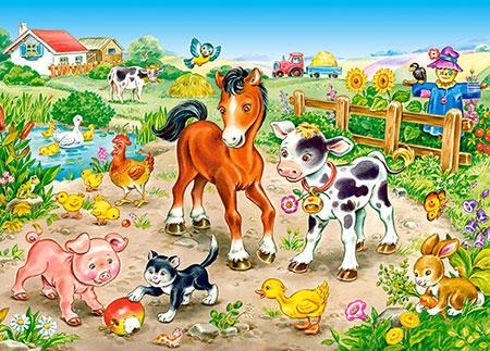 Tierkinder auf der Farm
