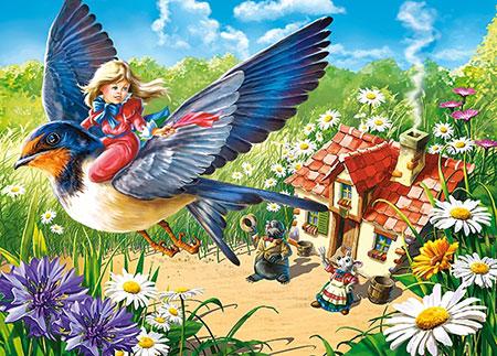 Däumeline - Flug auf dem Vogel