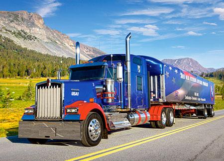 Blauer Truck