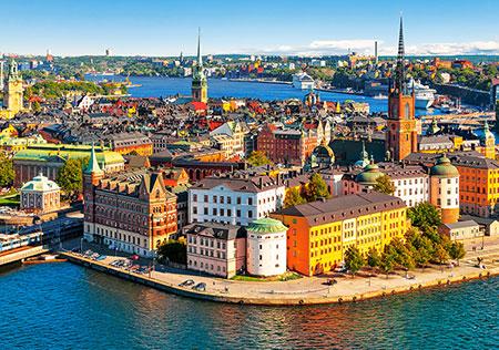 Blick auf die Altstadt von Stockholm