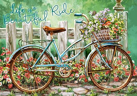 Bepflanztes Fahrrad