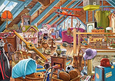 Der überfüllte Dachboden
