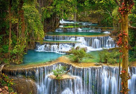 Paradiesische Wasserfälle