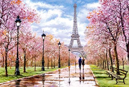 Romantischer Spaziergang durch Paris