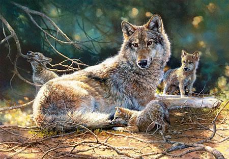 die-wolfsmutter-mit-ihren-kleinen