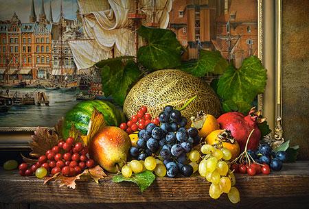 Stillleben mit saftigen Früchten