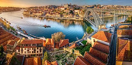 Panoramablick auf Porto