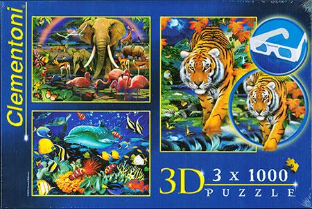 Faszinierende Tierwelt - 3D Effektpuzzle