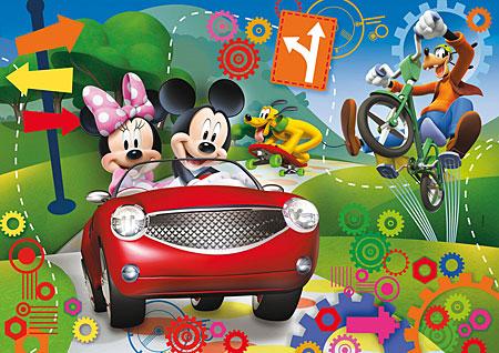 3d-effekt-puzzle-mickey-maus-clubhaus-der-ausflug
