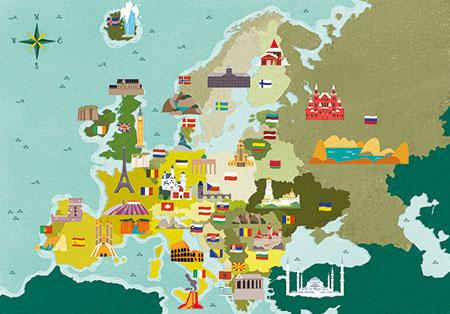 Berühmte Orte Europas