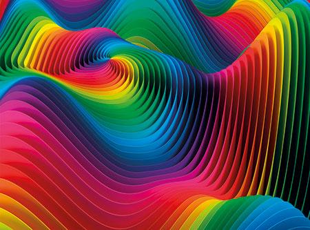 Farbexplosion Wellen