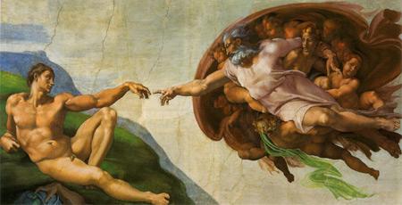 Erschaffung Adams, Michelangelo