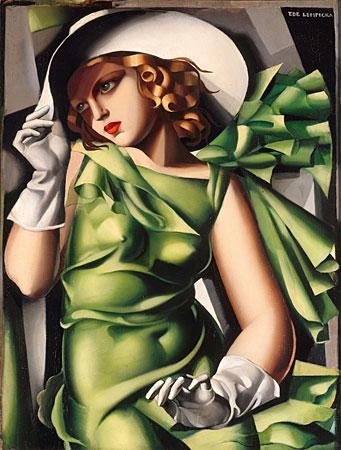 Junge Frau mit Handschuhen, De Lempicka