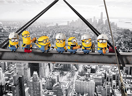 Minions - Mittagspause auf dem Stahlträger