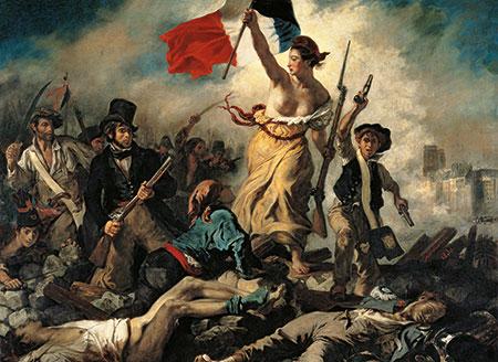 Die Freiheit führt das Volk, Delacroix