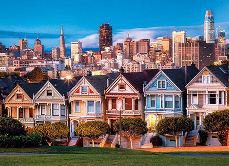 Die Painted Ladies in San Francisco