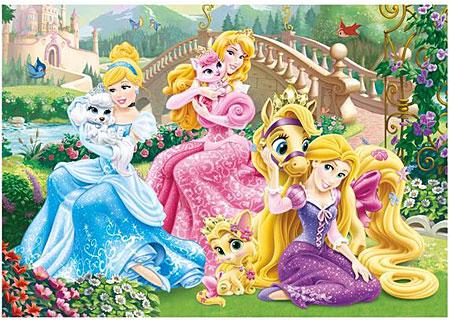 Die Prinzessinnen mit ihren Tieren