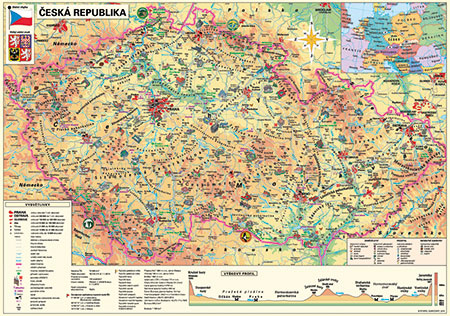 tschechische-republik-politische-karte