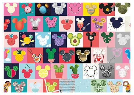 Mickey Ohren Collage
