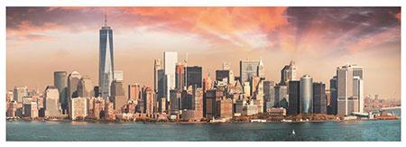 Manhattan bei Dämmerung